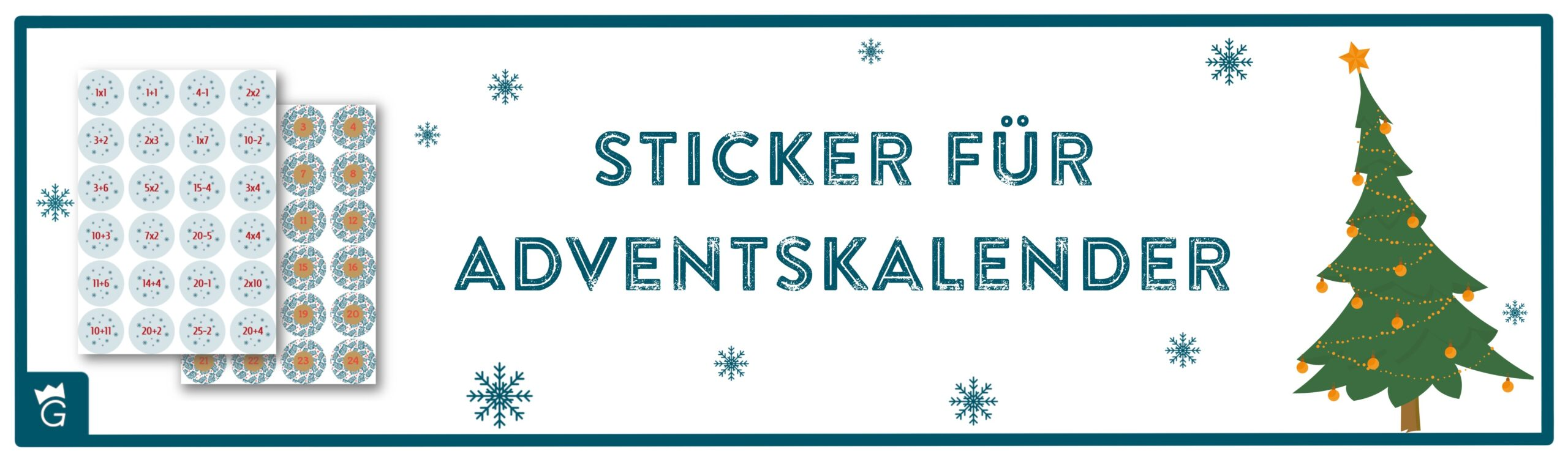 Adventskalender-Vorlagen zum Download