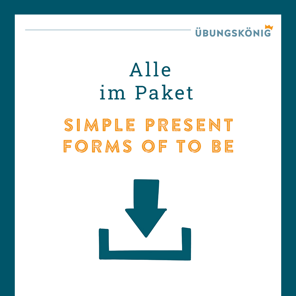 Königspaket: Simple Present - Forms of (to) be